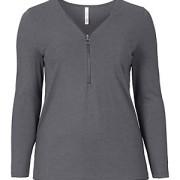sheego Trend Langarmshirt mit Zipper