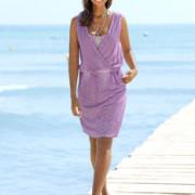Sommerkleid im Mix aus Jersey und fein gerippter
