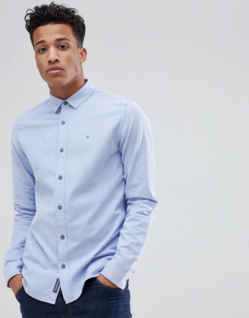 Calvin Klein - Wilbens - Oxfordhemd - Blau - Farbe:Blau