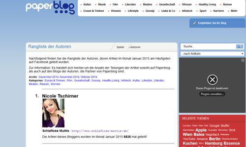 Paperbloggerin des Monats