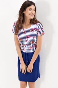 Der Inbegriff des Sommers: großartiges Shirt aus klimaregulierender Baumwolle mit topmodischem Print.