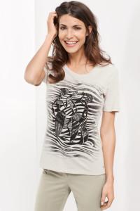 African Queen: wirkungsvolles 1/2 Arm Shirt mit schönem Frontdruck.