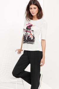 Wonderful Life! Das 1/2 Arm Shirt mit modischem Picture-Print drückt wahre Lebensfreude aus.