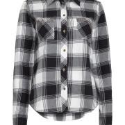 Diese Bluse ist aus einem weichen Baumwoll-Viskose-Mix gefertigt und zeigt sich mit modischem Karomuster. Während der Umlegekragen und die 1-Knopf-Manschetten für den modelltypischen Look sorgen