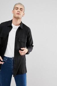Weekday - Hudson - Hemd - Schwarz - Farbe:Schwarz