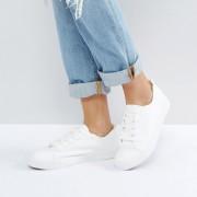 New Look - Geschnürte Sneaker - Weiß - Farbe:Weiß