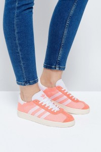 adidas Originals - Gazelle - Korallfarbene Primeknit-Sneaker - Rosa - Farbe:Rosa