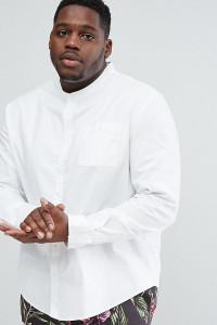 Another Influence PLUS - Grandad-Hemd - Weiß - Farbe:Weiß