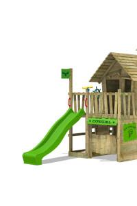 Holz Spielturm mit Rutsche