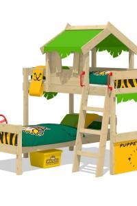 Etagenbett Wickey CrAzY Jungle mit Dach. Fabelhafte Kinderbetten aus hochwertigem Holz und tolles Zubehör. Besuchen Sie unseren Wickey Shop!