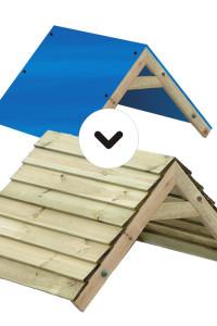 Ihr Spielturmfavorit hat ein Planendach aber Sie wünschen ein Holzdach? Dann ist die Wickey Erweiterung Planendach zu Holzach richtig! Zugreifen