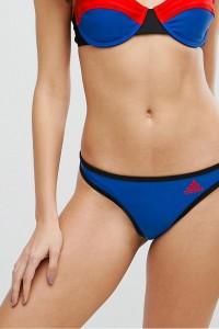 adidas Originals - Bikinihose mit Logo - Blau - Farbe:Blau