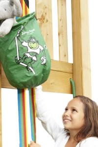Jungle Gym Bucket Modul - Dieser Seilzug ist ein Extra Modul für Ihren Jungle Gym Spielturm oder für jeden anderen Spielturm.