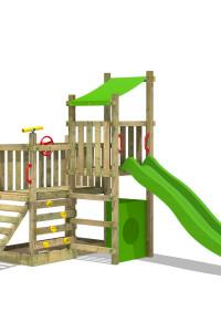 Klettergerüst FATMOOSE PowerPalm Triple XXL mit Schaukel und Spielhaus. Entdecke Spieltürme für Kinder! Die schärfsten Preise im Wickey Online Shop.