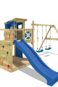 Gartenspielgerät Wickey Smart Camp mit einer Podesthöhe von 120cm. Weitere Spieltürme und phantastisches Zubehör finden Sie in unserem Online-Shop!