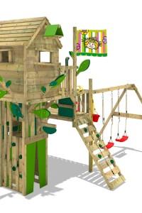 Baumhaus mit Rutsche Wickey Smart Treetop. Eine große Auswahl hochwertiger Klettertürme