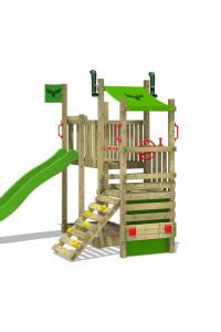 Klettergerüst mit Rusche | FATMOOSE TurboTruck XL Power. Kletter-Fans haben großen Spaß beim Spielen im Garten. Kreative Spieltürme jetzt bei Wickey!