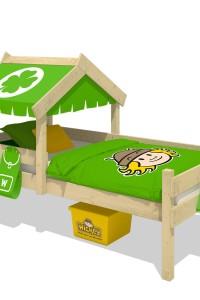 Kinderbett Wickey CrAzY Buddy mit Dach. Hochwertige Kinderbetten aus Holz für farbenfrohe Kinderzimmer. Die schönsten Designs im Wickey-Shop!