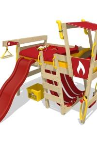 Kinderhochbett Wickey CrAzY Smoky. Im schönsten Kinderzimmer in den neuen Tag rutschen mit dem Feuerwehrbett mit Rutsche von Wickey. Jetzt im Shop!