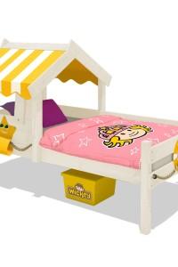 Kinderbett Wickey CrAzY Sunny mit Dach. Individuelles Einzelbett für jedes Kind. Entdecken Sie alle phantasievollen Betten im Wickey-Shop!