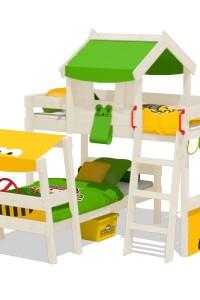 Etagenbett Wickey CrAzY Trunky mit Dach in Autobett Optik. Fabelhafte Kinderbetten und tolles Zubehör. Besuchen Sie unseren Wickey Shop!