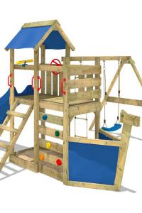Spielturm Seaflyer aus Holz mit Rutsche und Schaukel! Große Auswahl an Spieltürmen und mehr.Hochwertige Klettertürme aus eigener Herstellung im Wickey Shop.