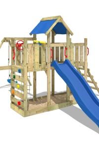 Wickeys Spielturm Twinflyer kombiniert Kletterturm