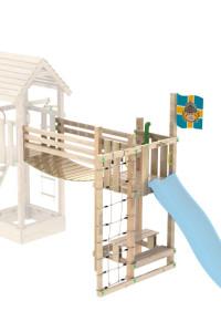 Wickeys Xtra-Bridge 150 erweitert Ihren Spielturm um einen weiteren Turm mit Hängebrücke. Große Auswahl an Spieltürmen
