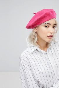 ASOS - Baskenmütze aus Wolle - Rosa - Farbe:Rosa