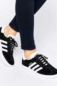 adidas Originals - Gazelle - Sneaker aus schwarzem Wildleder - Schwarz - Farbe:Schwarz