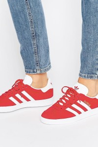 adidas Originals - Gazelle - Sneaker aus rotem Wildleder - Rot - Farbe:Rot