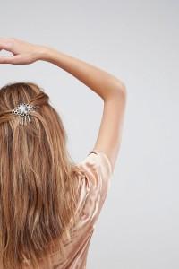 ASOS - Haarclip aus Kunstharz in Schildpatt mit Zierausschnitten - Gold - Farbe:Gold