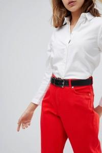 ASOS - Jeansgürtel mit Kontrastrand - Schwarz - Farbe:Schwarz