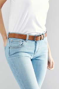 ASOS - Hellbrauner Jeansgürtel im Vintage-Look - Braun - Farbe:Braun