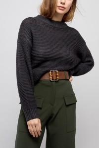 ASOS - Jeansgürtel mit Schnall und Bambus-Detail - Braun - Farbe:Braun