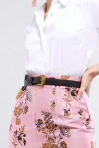 ASOS - Langer Taillen- und Hüftgürtel im Western-Stil mit Metallteilen in American Gold - Schwarz - Farbe:Schwarz
