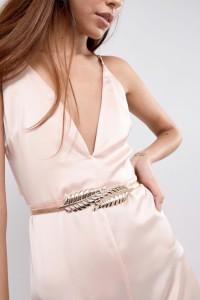 ASOS - Goldener Gürtel mit Blattdesign - Gold - Farbe:Gold