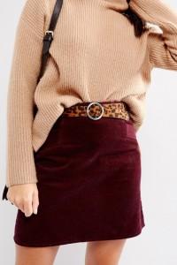 ASOS - Jeansgürtel mit Schnalle und Leo-Design mit verzierten Enden - Beige - Farbe:Beige