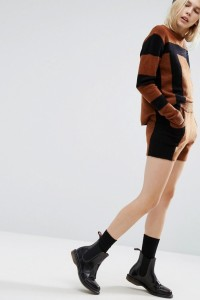 ASOS - Gestrickte Shorts in Blockfarben