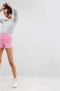 ASOS - Mom-Shorts aus Denim in Rosa - Rosa - Farbe:Rosa