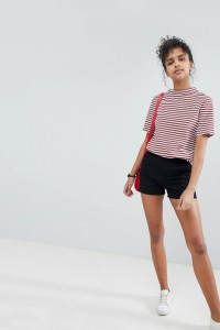 ASOS - Chino-Shorts - Schwarz - Farbe:Schwarz