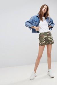 ASOS - Cargo-Shorts mit Tarnmuster - Mehrfarbig - Farbe:Mehrfarbig