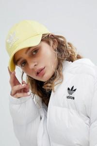 adidas Originals - adicolor - Gelbe Kappe mit Dreiblattlogo - Gelb - Farbe:Gelb