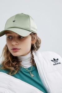 adidas Originals - Grüne Cap aus Satin - Grün - Farbe:Grün