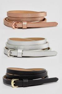 ASOS CURVE - 3er-Set Taillen- und Hüftgürtel in Metallic-Optic - Mehrfarbig - Farbe:Mehrfarbig