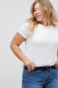 ASOS CURVE - Jeansgürtel mit runder und dreieckiger Schnalle