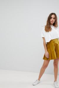 ASOS - Plissierte Culotte-Shorts - Grün - Farbe:Grün