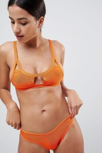 Missguided - Bikinihose im Bandagenstil - Orange - Farbe:Orange
