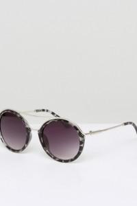7X - Runde Sonnenbrille - Braun - Farbe:Braun