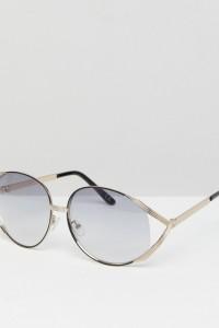 ASOS - Fashion - Oversize Vintage-Sonnenbrille mit leicht getönten Gläsern - Grau - Farbe:Grau